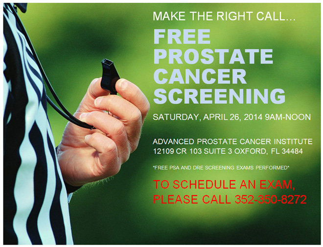 Free Prostate Cancer Screening